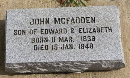 MCFADDEN, JOHN - Ashland County, Ohio | JOHN MCFADDEN - Ohio Gravestone Photos