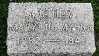MYERS, MARY LOU - Ashland County, Ohio   MARY LOU MYERS - Ohio Gravestone Photos