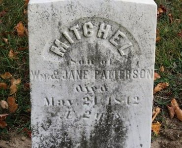 PATTERSON, WM. - Ashland County, Ohio | WM. PATTERSON - Ohio Gravestone Photos