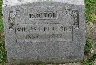 PERSONS, WILLIS F. - Ashland County, Ohio   WILLIS F. PERSONS - Ohio Gravestone Photos