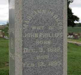 PHILLIPS, MARY ANN - Ashland County, Ohio   MARY ANN PHILLIPS - Ohio Gravestone Photos
