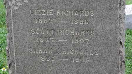 RICHARDS, SARAH J. - Ashland County, Ohio | SARAH J. RICHARDS - Ohio Gravestone Photos
