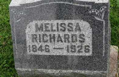 RICHARDS, MELISSA - Ashland County, Ohio | MELISSA RICHARDS - Ohio Gravestone Photos