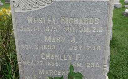 RICHARDS, MARGERET E. - Ashland County, Ohio | MARGERET E. RICHARDS - Ohio Gravestone Photos