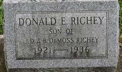 DEMOSS RICHEY, B. - Ashland County, Ohio | B. DEMOSS RICHEY - Ohio Gravestone Photos