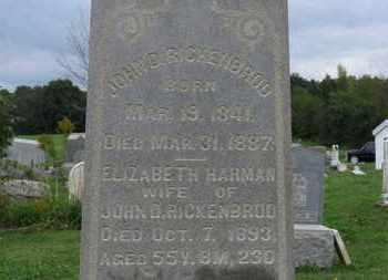 HARMAN RICKENBROD, ELIZABETH - Ashland County, Ohio | ELIZABETH HARMAN RICKENBROD - Ohio Gravestone Photos