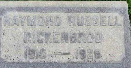 RICKENBROD, RAYMOND RUSSELL - Ashland County, Ohio   RAYMOND RUSSELL RICKENBROD - Ohio Gravestone Photos