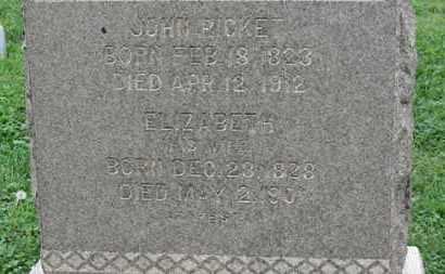 RICKET, JOHN - Ashland County, Ohio | JOHN RICKET - Ohio Gravestone Photos