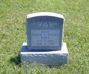 ROGERS ROWE, CARRIE - Ashland County, Ohio | CARRIE ROGERS ROWE - Ohio Gravestone Photos