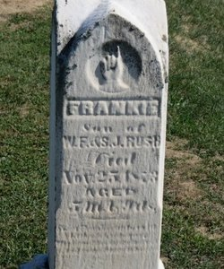RUSH, FRANKIE - Ashland County, Ohio | FRANKIE RUSH - Ohio Gravestone Photos