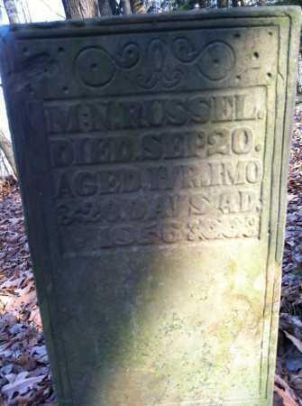RUSSELL, M.N. - Ashland County, Ohio | M.N. RUSSELL - Ohio Gravestone Photos