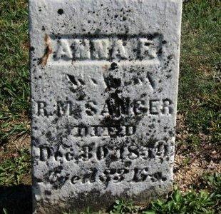 SANGER, ANNA F. - Ashland County, Ohio   ANNA F. SANGER - Ohio Gravestone Photos