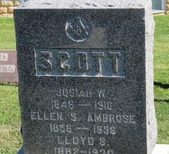 SCOTT, JOSIAH W. - Ashland County, Ohio | JOSIAH W. SCOTT - Ohio Gravestone Photos