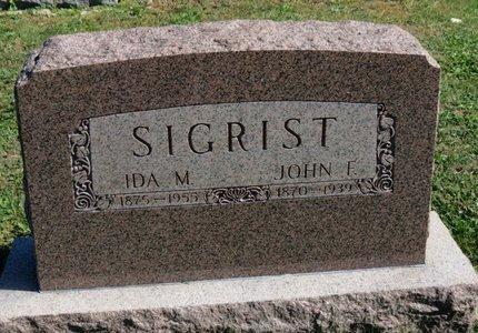 SIGRIST, JOHN F. - Ashland County, Ohio   JOHN F. SIGRIST - Ohio Gravestone Photos