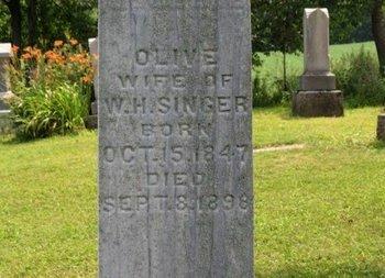 SINGER, OLIVE - Ashland County, Ohio | OLIVE SINGER - Ohio Gravestone Photos