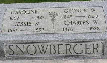 SNOWBERGER, JESSIE M. - Ashland County, Ohio | JESSIE M. SNOWBERGER - Ohio Gravestone Photos