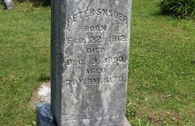 SNYDER, PETER - Ashland County, Ohio   PETER SNYDER - Ohio Gravestone Photos