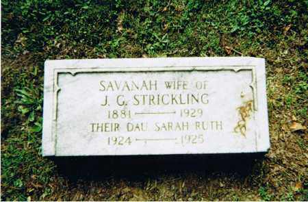 STRICKLING, SARAH RUTH - Ashland County, Ohio | SARAH RUTH STRICKLING - Ohio Gravestone Photos