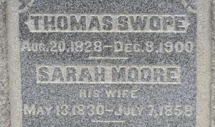 SWOPE, SARAH - Ashland County, Ohio   SARAH SWOPE - Ohio Gravestone Photos