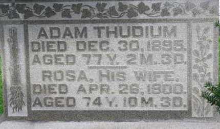 THUDIUM, ROSA - Ashland County, Ohio | ROSA THUDIUM - Ohio Gravestone Photos