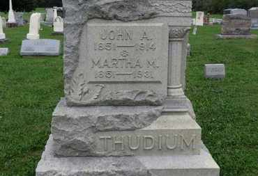 THUDIUM, JOHN A. - Ashland County, Ohio | JOHN A. THUDIUM - Ohio Gravestone Photos