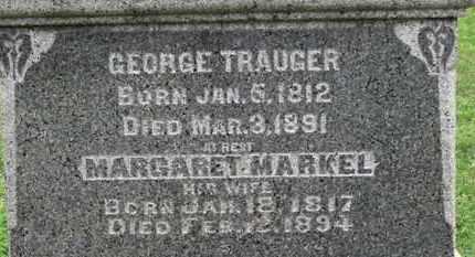 TRAUGER, GEORGE - Ashland County, Ohio | GEORGE TRAUGER - Ohio Gravestone Photos