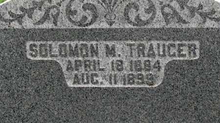 TRAUGER, SOLOMAN M. - Ashland County, Ohio | SOLOMAN M. TRAUGER - Ohio Gravestone Photos