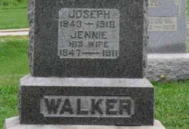 WALKER, JENNIE - Ashland County, Ohio | JENNIE WALKER - Ohio Gravestone Photos