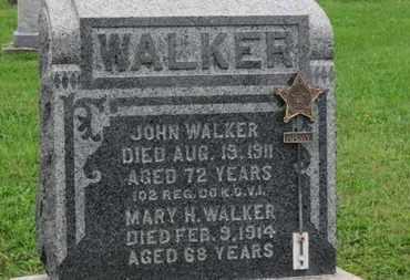 WALKER, MARY H. - Ashland County, Ohio | MARY H. WALKER - Ohio Gravestone Photos