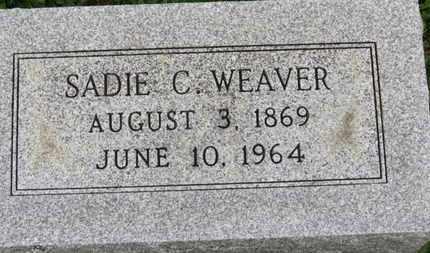 WEAVER, SADIE C. - Ashland County, Ohio   SADIE C. WEAVER - Ohio Gravestone Photos