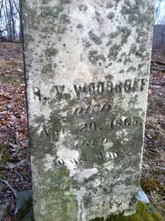 WOODRUFF, R. V. [REUBEN] - Ashland County, Ohio | R. V. [REUBEN] WOODRUFF - Ohio Gravestone Photos