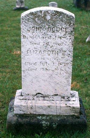 DODGE, JOHN - Ashtabula County, Ohio   JOHN DODGE - Ohio Gravestone Photos