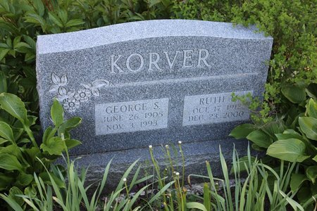 KORVER, GEORGE S. - Ashtabula County, Ohio | GEORGE S. KORVER - Ohio Gravestone Photos