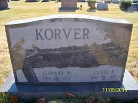 SLOCUM KORVER, CLISTA BEATRICE - Ashtabula County, Ohio | CLISTA BEATRICE SLOCUM KORVER - Ohio Gravestone Photos