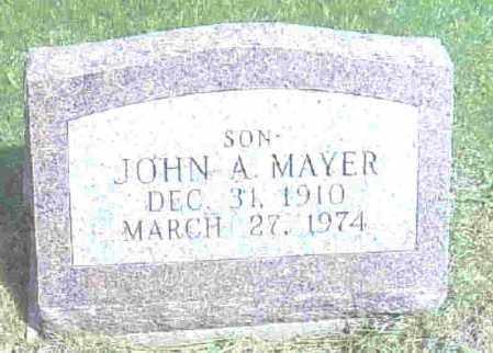 MAYER, JOHN A. - Ashtabula County, Ohio | JOHN A. MAYER - Ohio Gravestone Photos
