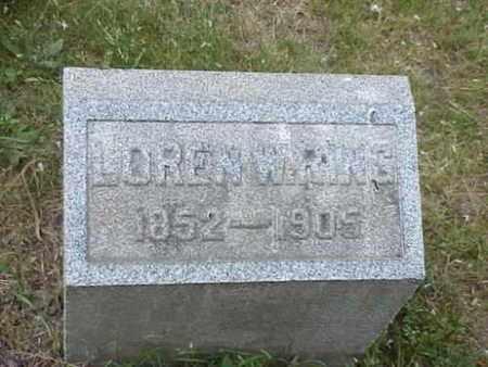 RING, LOREN WARREN - Ashtabula County, Ohio | LOREN WARREN RING - Ohio Gravestone Photos