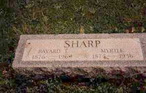 SHARP, MYRTLE ELIZABETH - Ashtabula County, Ohio   MYRTLE ELIZABETH SHARP - Ohio Gravestone Photos