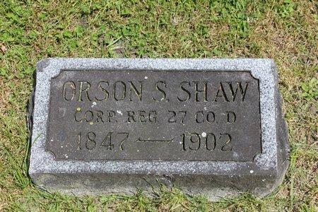 SHAW, ORSON SIMEON - Ashtabula County, Ohio | ORSON SIMEON SHAW - Ohio Gravestone Photos