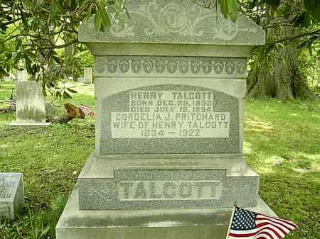 PRITCHARD TALCOTT, CORDELIA JANE - Ashtabula County, Ohio   CORDELIA JANE PRITCHARD TALCOTT - Ohio Gravestone Photos