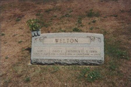 THOMPSON WELTON, MARY ELIZABETH - Ashtabula County, Ohio | MARY ELIZABETH THOMPSON WELTON - Ohio Gravestone Photos