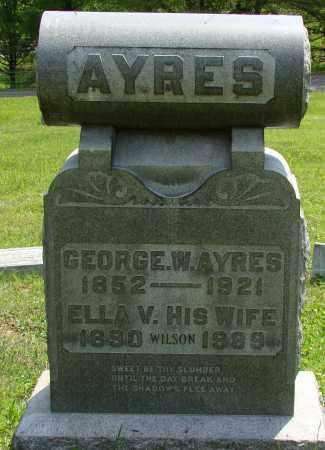AYERS, ELLEN V. - Athens County, Ohio | ELLEN V. AYERS - Ohio Gravestone Photos