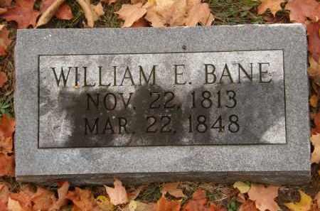 BANE, WILLIAM E. - Athens County, Ohio   WILLIAM E. BANE - Ohio Gravestone Photos