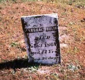 BOLIN, MARSHALL - Athens County, Ohio | MARSHALL BOLIN - Ohio Gravestone Photos