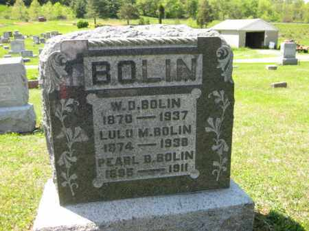 BOLIN, W.D. - Athens County, Ohio   W.D. BOLIN - Ohio Gravestone Photos