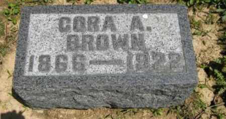 BROWN, CORA A. - Athens County, Ohio | CORA A. BROWN - Ohio Gravestone Photos