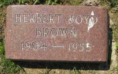 BROWN, HERBERT BOYD - Athens County, Ohio | HERBERT BOYD BROWN - Ohio Gravestone Photos