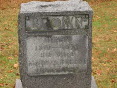 BROWN, HENRY - Athens County, Ohio | HENRY BROWN - Ohio Gravestone Photos