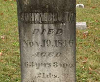 BROWN, JOHN V. - Athens County, Ohio | JOHN V. BROWN - Ohio Gravestone Photos