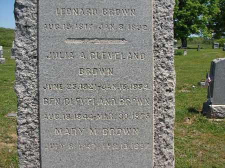 BROWN, JULIA A - Athens County, Ohio | JULIA A BROWN - Ohio Gravestone Photos