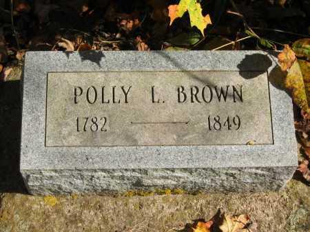 BROWN, POLLY L. - Athens County, Ohio   POLLY L. BROWN - Ohio Gravestone Photos